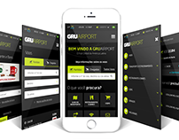 Gru Airport Website Mobile Institucional