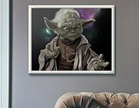Ilustração Digital - Yoda