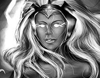 A Rainha dos Trovões - Digital Art