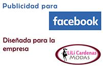 Publicidad para Facebook - Empresa: Lili Cardenas Modas