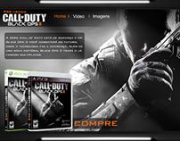 Hotsite Pré-Venda Call of Duty Black Ops II - Submarino