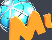 Modelagem em 3D - Logomarca do Supermercado Mundial