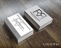 Logo e Cartão de visita RR Advogados Associados