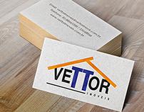 Criação de Logo Vettor Imóveis.