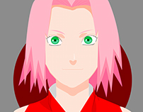 Ilustração Vetorial - Sakura & Naruto