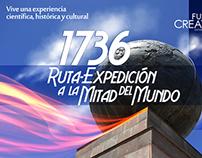 1736. Ruta expedición a la Mitad del Mundo, Ecuador.