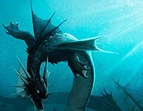 Dragón elemental agua