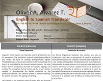 Sample Translation 8 (Vowel categories)