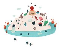 Cerise // Illustration pour une naissance