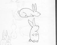 Ilustración vectorial - conejitos