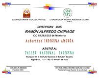 Diploma y Escarapelas Taller Indigena CSJ-OM