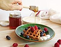 Honey waffles!
