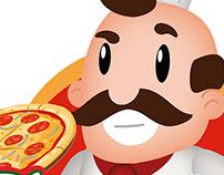 Mascote e logotipo - Papito Pizzaria