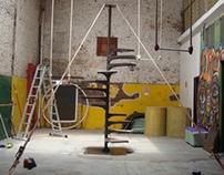Escenografía Escalera Caracol/ Scenery Snail ladder