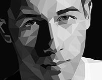 Nick Jonas polygonal illustration