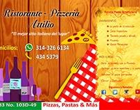 Publicidad impresa Ristorante Attilio