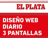 Diseño Web Diario - 3 Pantallas