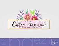 "Diseño de logotipo ""Entre Aromas""."