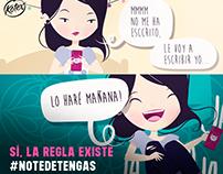 CAMPAÑA: #NOTEDETENGAS