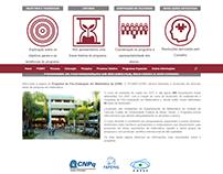 Website em wordpress, Programa de Pós-graduação - UFMG