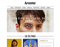Web Design for the spanish site Kreemo