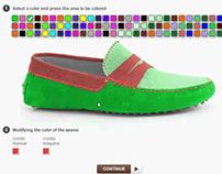 Animación Flash para seleccionar colores de un producto