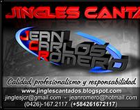 Diseño para JINGLES CANTADOS JCR