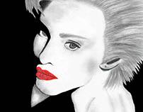 Rostro madonna ilustración - Face illustration Madonna