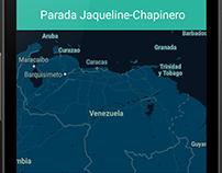 Maquetado del diseño de la App y desarrollo de mapa