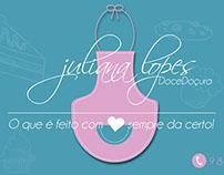 Cartão feito para Juliana Lopes