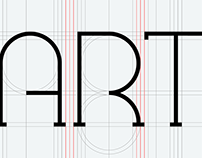 Typography construction using grid.