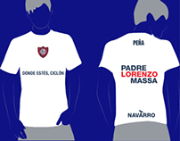 "Design for peña ""Padre Lorenzo Massa"" (Navarro) t-shirt"