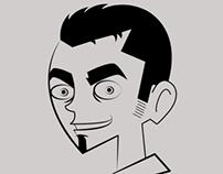 Proceso de la caricaturización de mi rostro