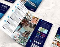 Díptico Msc Cruceros para agencias de viajes