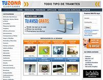 Tu Zona Clasificados Website