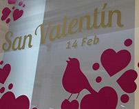DANGELO Valentines Window Display