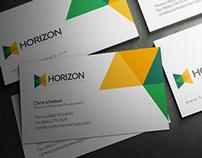 Horizon Logo y Tarjeta Visita BC