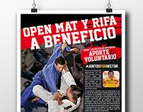 Afiche para beneficio Escuelas de Jiu Jitsu