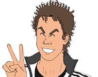 Minhas auto-caricaturas em junho de 2013