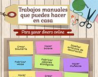 Infografía: Trabajos manuales desde casa