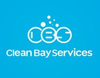 Clean Bay Services. Logo design. Service company.