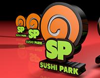 modelado logo sushi park (valparaìso, chile)