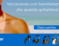Header para newsletter-  Audifonos Sennheiser
