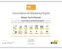 Certificado Marketing Digital Modesto Bonilla