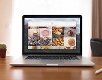Sitio Web de un restaurante/ café.