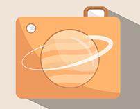 Flat Design - Saturno Logo