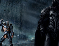Batman vs Deathstroke Medieval