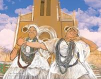 Ilustração para plotagem Santa Inês
