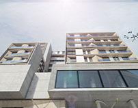 diseño y vizualizacion edificio de vivenda