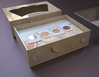Development collecion coin box in 3D, for gachaball.com